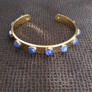 ♠ Kate Spade♠  Tag Along Cuff in Blue - Used